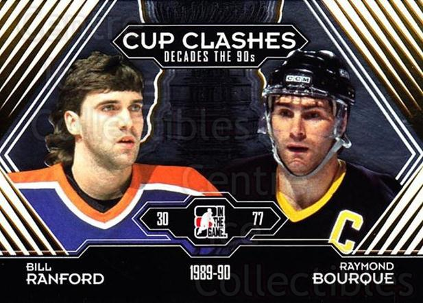 2013-14 ITG Decades 1990s Gold #191 Bill Ranford, Raymond Bourque<br/>1 In Stock - $10.00 each - <a href=https://centericecollectibles.foxycart.com/cart?name=2013-14%20ITG%20Decades%201990s%20Gold%20%23191%20Bill%20Ranford,%20R...&quantity_max=1&price=$10.00&code=651683 class=foxycart> Buy it now! </a>