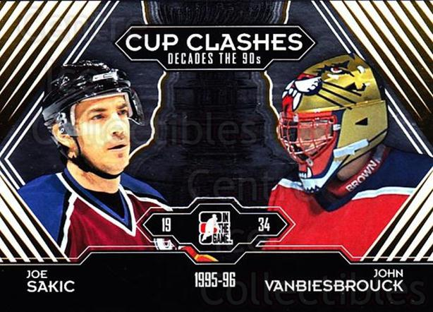 2013-14 ITG Decades 1990s Gold #197 Joe Sakic, John Vanbiesbrouck<br/>4 In Stock - $10.00 each - <a href=https://centericecollectibles.foxycart.com/cart?name=2013-14%20ITG%20Decades%201990s%20Gold%20%23197%20Joe%20Sakic,%20John...&quantity_max=4&price=$10.00&code=651689 class=foxycart> Buy it now! </a>