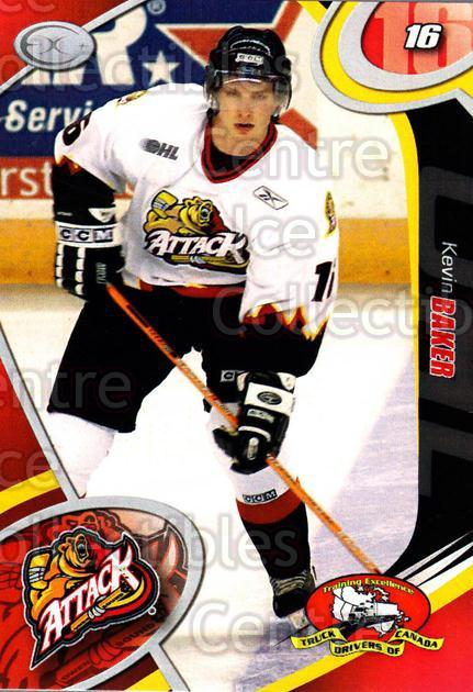 2004-05 Owen Sound Attack #6 Kevin Baker<br/>2 In Stock - $3.00 each - <a href=https://centericecollectibles.foxycart.com/cart?name=2004-05%20Owen%20Sound%20Attack%20%236%20Kevin%20Baker...&quantity_max=2&price=$3.00&code=651709 class=foxycart> Buy it now! </a>
