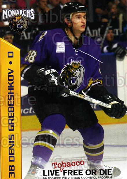 2003-04 Manchester Monarchs Team Issue #6 Denis Grebeshkov<br/>3 In Stock - $3.00 each - <a href=https://centericecollectibles.foxycart.com/cart?name=2003-04%20Manchester%20Monarchs%20Team%20Issue%20%236%20Denis%20Grebeshko...&quantity_max=3&price=$3.00&code=651733 class=foxycart> Buy it now! </a>