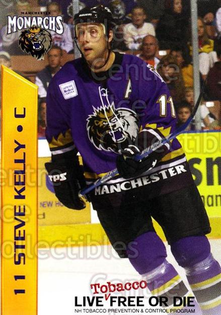 2003-04 Manchester Monarchs Team Issue #8 Steve Kelly<br/>2 In Stock - $3.00 each - <a href=https://centericecollectibles.foxycart.com/cart?name=2003-04%20Manchester%20Monarchs%20Team%20Issue%20%238%20Steve%20Kelly...&quantity_max=2&price=$3.00&code=651735 class=foxycart> Buy it now! </a>