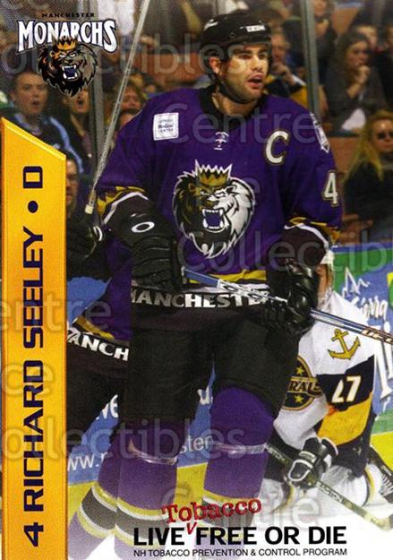 2003-04 Manchester Monarchs Team Issue #16 Richard Seeley<br/>3 In Stock - $3.00 each - <a href=https://centericecollectibles.foxycart.com/cart?name=2003-04%20Manchester%20Monarchs%20Team%20Issue%20%2316%20Richard%20Seeley...&quantity_max=3&price=$3.00&code=651743 class=foxycart> Buy it now! </a>