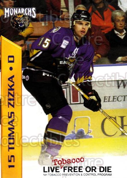 2003-04 Manchester Monarchs Team Issue #20 Tomas Zizka<br/>2 In Stock - $3.00 each - <a href=https://centericecollectibles.foxycart.com/cart?name=2003-04%20Manchester%20Monarchs%20Team%20Issue%20%2320%20Tomas%20Zizka...&quantity_max=2&price=$3.00&code=651747 class=foxycart> Buy it now! </a>