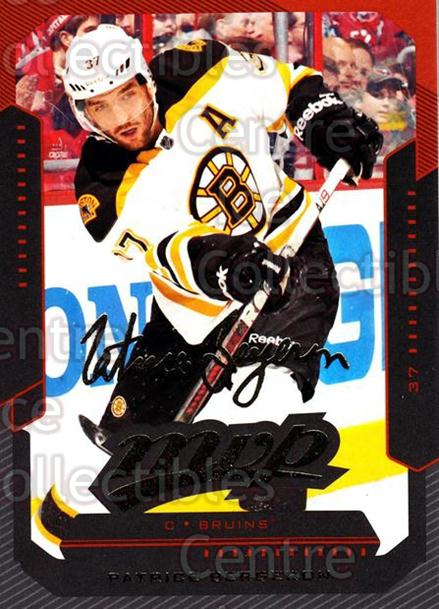 2012-13 Upper Deck MVP #4 Patrice Bergeron<br/>1 In Stock - $3.00 each - <a href=https://centericecollectibles.foxycart.com/cart?name=2012-13%20Upper%20Deck%20MVP%20%234%20Patrice%20Bergero...&quantity_max=1&price=$3.00&code=651797 class=foxycart> Buy it now! </a>