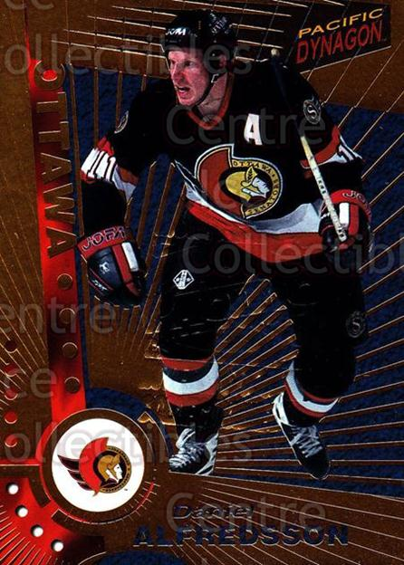 1997-98 Dynagon Montreal Embossed Redemption #83 Daniel Alfredsson<br/>1 In Stock - $5.00 each - <a href=https://centericecollectibles.foxycart.com/cart?name=1997-98%20Dynagon%20Montreal%20Embossed%20Redemption%20%2383%20Daniel%20Alfredss...&quantity_max=1&price=$5.00&code=651977 class=foxycart> Buy it now! </a>