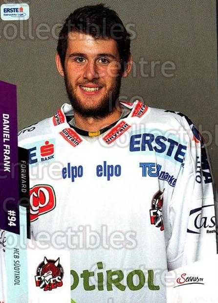 2014-15 Erste Bank Eishockey Liga EBEL #12 Daniel Frank<br/>4 In Stock - $2.00 each - <a href=https://centericecollectibles.foxycart.com/cart?name=2014-15%20Erste%20Bank%20Eishockey%20Liga%20EBEL%20%2312%20Daniel%20Frank...&quantity_max=4&price=$2.00&code=652035 class=foxycart> Buy it now! </a>