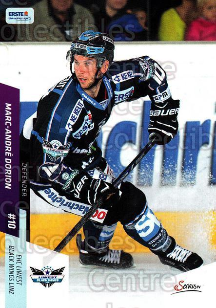 2014-15 Erste Bank Eishockey Liga EBEL #77 Marc-Andre Dorion<br/>4 In Stock - $2.00 each - <a href=https://centericecollectibles.foxycart.com/cart?name=2014-15%20Erste%20Bank%20Eishockey%20Liga%20EBEL%20%2377%20Marc-Andre%20Dori...&quantity_max=4&price=$2.00&code=652100 class=foxycart> Buy it now! </a>