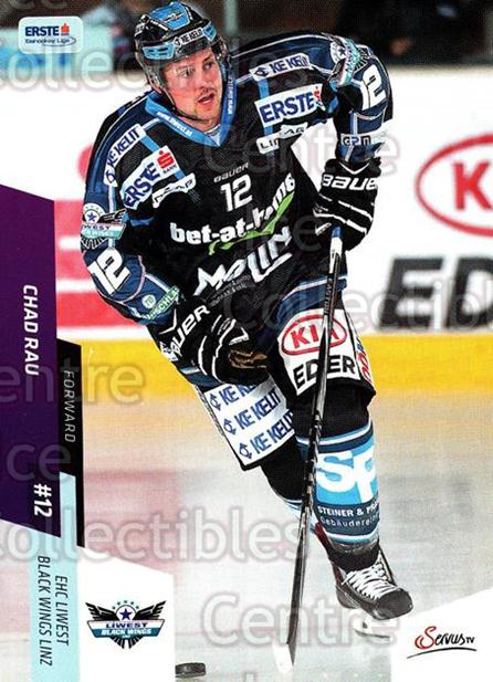 2014-15 Erste Bank Eishockey Liga EBEL #85 Chad Rau<br/>1 In Stock - $2.00 each - <a href=https://centericecollectibles.foxycart.com/cart?name=2014-15%20Erste%20Bank%20Eishockey%20Liga%20EBEL%20%2385%20Chad%20Rau...&quantity_max=1&price=$2.00&code=652108 class=foxycart> Buy it now! </a>