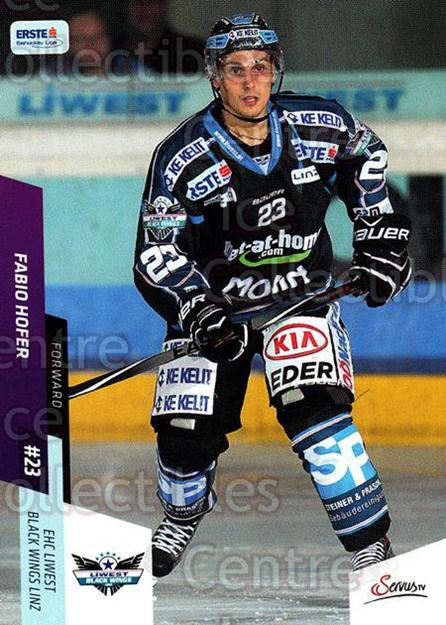 2014-15 Erste Bank Eishockey Liga EBEL #92 Fabio Hofer<br/>4 In Stock - $2.00 each - <a href=https://centericecollectibles.foxycart.com/cart?name=2014-15%20Erste%20Bank%20Eishockey%20Liga%20EBEL%20%2392%20Fabio%20Hofer...&quantity_max=4&price=$2.00&code=652115 class=foxycart> Buy it now! </a>