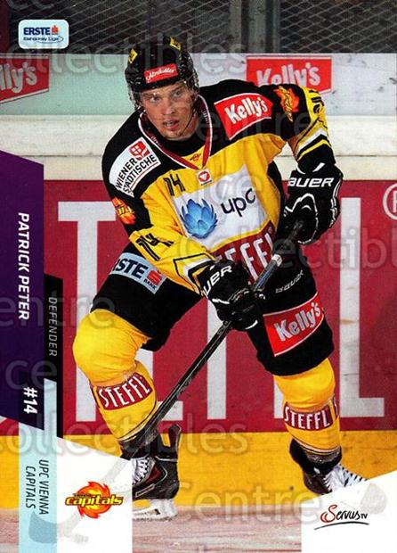 2014-15 Erste Bank Eishockey Liga EBEL #102 Patrick Peter<br/>4 In Stock - $2.00 each - <a href=https://centericecollectibles.foxycart.com/cart?name=2014-15%20Erste%20Bank%20Eishockey%20Liga%20EBEL%20%23102%20Patrick%20Peter...&quantity_max=4&price=$2.00&code=652125 class=foxycart> Buy it now! </a>