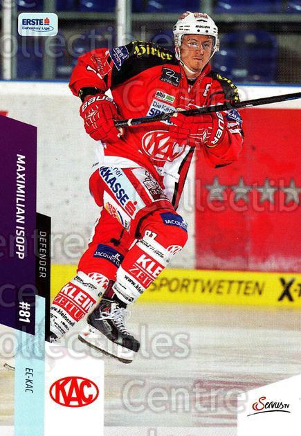 2014-15 Erste Bank Eishockey Liga EBEL #197 Maximilian Isopp<br/>4 In Stock - $2.00 each - <a href=https://centericecollectibles.foxycart.com/cart?name=2014-15%20Erste%20Bank%20Eishockey%20Liga%20EBEL%20%23197%20Maximilian%20Isop...&quantity_max=4&price=$2.00&code=652220 class=foxycart> Buy it now! </a>