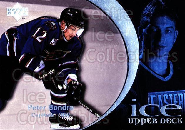 1997-98 UD Ice #12 Peter Bondra<br/>3 In Stock - $1.00 each - <a href=https://centericecollectibles.foxycart.com/cart?name=1997-98%20UD%20Ice%20%2312%20Peter%20Bondra...&quantity_max=3&price=$1.00&code=65223 class=foxycart> Buy it now! </a>