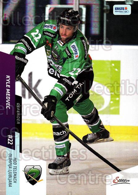 2014-15 Erste Bank Eishockey Liga EBEL #249 Kyle Medvec<br/>2 In Stock - $2.00 each - <a href=https://centericecollectibles.foxycart.com/cart?name=2014-15%20Erste%20Bank%20Eishockey%20Liga%20EBEL%20%23249%20Kyle%20Medvec...&quantity_max=2&price=$2.00&code=652272 class=foxycart> Buy it now! </a>