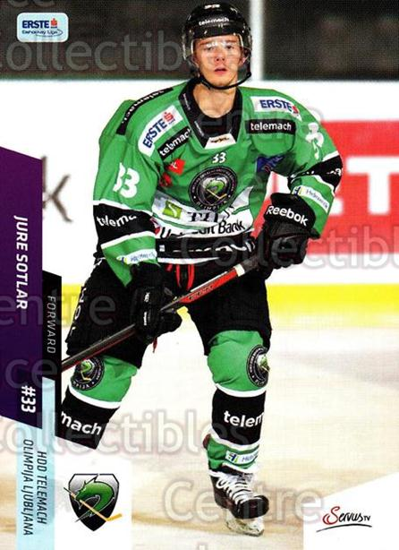 2014-15 Erste Bank Eishockey Liga EBEL #254 Jure Sotlar<br/>3 In Stock - $2.00 each - <a href=https://centericecollectibles.foxycart.com/cart?name=2014-15%20Erste%20Bank%20Eishockey%20Liga%20EBEL%20%23254%20Jure%20Sotlar...&quantity_max=3&price=$2.00&code=652277 class=foxycart> Buy it now! </a>
