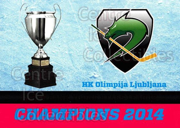 2014-15 Erste Bank Eishockey Liga EBEL #290 EBYSL Champions, HDD Tilia Olimpija Ljubljana<br/>4 In Stock - $2.00 each - <a href=https://centericecollectibles.foxycart.com/cart?name=2014-15%20Erste%20Bank%20Eishockey%20Liga%20EBEL%20%23290%20EBYSL%20Champions...&quantity_max=4&price=$2.00&code=652313 class=foxycart> Buy it now! </a>