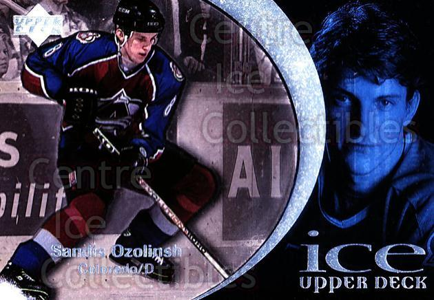 1997-98 UD Ice #24 Sandis Ozolinsh<br/>5 In Stock - $1.00 each - <a href=https://centericecollectibles.foxycart.com/cart?name=1997-98%20UD%20Ice%20%2324%20Sandis%20Ozolinsh...&quantity_max=5&price=$1.00&code=65235 class=foxycart> Buy it now! </a>