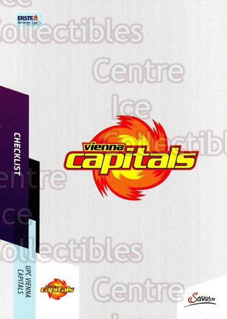 2014-15 Erste Bank Eishockey Liga EBEL #389 Checklist, Vienna Capitals<br/>2 In Stock - $2.00 each - <a href=https://centericecollectibles.foxycart.com/cart?name=2014-15%20Erste%20Bank%20Eishockey%20Liga%20EBEL%20%23389%20Checklist,%20Vien...&quantity_max=2&price=$2.00&code=652412 class=foxycart> Buy it now! </a>