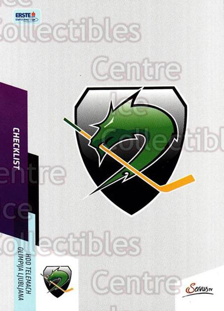 2014-15 Erste Bank Eishockey Liga EBEL #395 Checklist, HDD Tilia Olimpija Ljubljana<br/>4 In Stock - $2.00 each - <a href=https://centericecollectibles.foxycart.com/cart?name=2014-15%20Erste%20Bank%20Eishockey%20Liga%20EBEL%20%23395%20Checklist,%20HDD%20...&quantity_max=4&price=$2.00&code=652418 class=foxycart> Buy it now! </a>