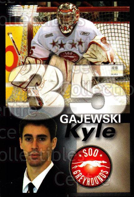2007-08 Sault Ste. Marie Greyhounds #8 Kyle Gajewski<br/>1 In Stock - $3.00 each - <a href=https://centericecollectibles.foxycart.com/cart?name=2007-08%20Sault%20Ste.%20Marie%20Greyhounds%20%238%20Kyle%20Gajewski...&quantity_max=1&price=$3.00&code=652442 class=foxycart> Buy it now! </a>