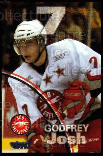 2007-08 Sault Ste. Marie Greyhounds #9 Josh Godfrey<br/>4 In Stock - $3.00 each - <a href=https://centericecollectibles.foxycart.com/cart?name=2007-08%20Sault%20Ste.%20Marie%20Greyhounds%20%239%20Josh%20Godfrey...&quantity_max=4&price=$3.00&code=652443 class=foxycart> Buy it now! </a>