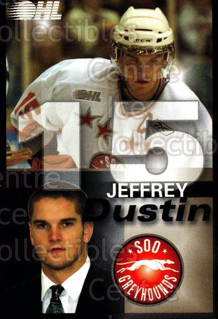 2007-08 Sault Ste. Marie Greyhounds #11 Dustin Jeffrey<br/>2 In Stock - $3.00 each - <a href=https://centericecollectibles.foxycart.com/cart?name=2007-08%20Sault%20Ste.%20Marie%20Greyhounds%20%2311%20Dustin%20Jeffrey...&quantity_max=2&price=$3.00&code=652445 class=foxycart> Buy it now! </a>