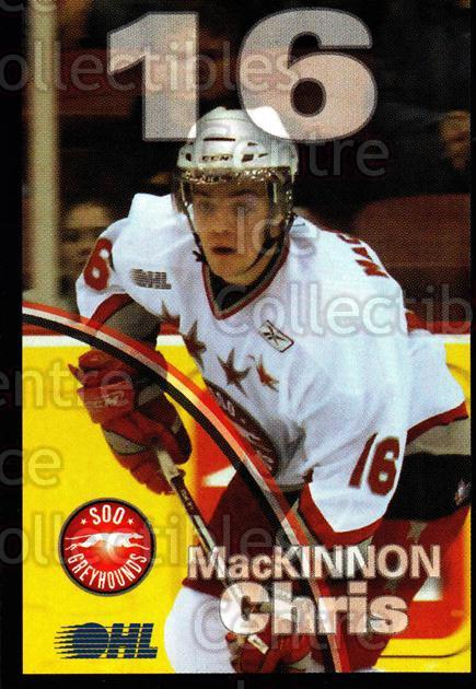 2007-08 Sault Ste. Marie Greyhounds #16 Chris MacKinnon<br/>3 In Stock - $3.00 each - <a href=https://centericecollectibles.foxycart.com/cart?name=2007-08%20Sault%20Ste.%20Marie%20Greyhounds%20%2316%20Chris%20MacKinnon...&quantity_max=3&price=$3.00&code=652450 class=foxycart> Buy it now! </a>
