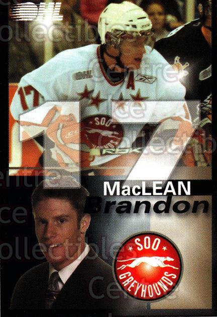 2007-08 Sault Ste. Marie Greyhounds #17 Brandon MacLean<br/>1 In Stock - $3.00 each - <a href=https://centericecollectibles.foxycart.com/cart?name=2007-08%20Sault%20Ste.%20Marie%20Greyhounds%20%2317%20Brandon%20MacLean...&quantity_max=1&price=$3.00&code=652451 class=foxycart> Buy it now! </a>