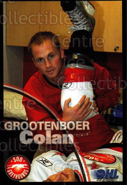 2007-08 Sault Ste. Marie Greyhounds #32 Colan Grootenboer<br/>3 In Stock - $3.00 each - <a href=https://centericecollectibles.foxycart.com/cart?name=2007-08%20Sault%20Ste.%20Marie%20Greyhounds%20%2332%20Colan%20Grootenbo...&quantity_max=3&price=$3.00&code=652466 class=foxycart> Buy it now! </a>