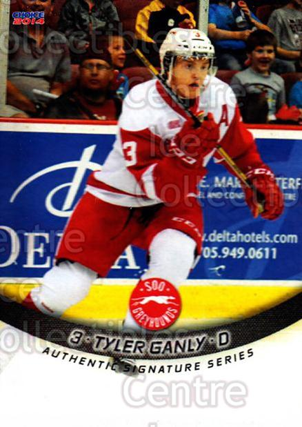 2013-14 Sault Ste. Marie Greyhounds #1 Tyler Ganley<br/>3 In Stock - $3.00 each - <a href=https://centericecollectibles.foxycart.com/cart?name=2013-14%20Sault%20Ste.%20Marie%20Greyhounds%20%231%20Tyler%20Ganley...&quantity_max=3&price=$3.00&code=652495 class=foxycart> Buy it now! </a>