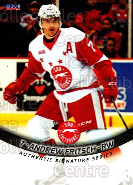 2013-14 Sault Ste. Marie Greyhounds #3 Andrew Fritsch<br/>2 In Stock - $3.00 each - <a href=https://centericecollectibles.foxycart.com/cart?name=2013-14%20Sault%20Ste.%20Marie%20Greyhounds%20%233%20Andrew%20Fritsch...&quantity_max=2&price=$3.00&code=652497 class=foxycart> Buy it now! </a>