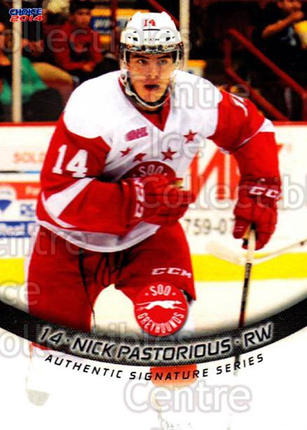 2013-14 Sault Ste. Marie Greyhounds #6 Nick Pastorious<br/>3 In Stock - $3.00 each - <a href=https://centericecollectibles.foxycart.com/cart?name=2013-14%20Sault%20Ste.%20Marie%20Greyhounds%20%236%20Nick%20Pastorious...&quantity_max=3&price=$3.00&code=652500 class=foxycart> Buy it now! </a>