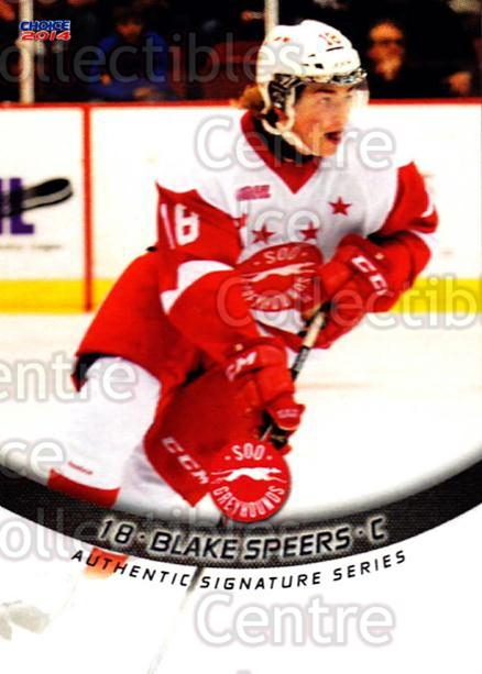 2013-14 Sault Ste. Marie Greyhounds #8 Blake Speers<br/>3 In Stock - $3.00 each - <a href=https://centericecollectibles.foxycart.com/cart?name=2013-14%20Sault%20Ste.%20Marie%20Greyhounds%20%238%20Blake%20Speers...&quantity_max=3&price=$3.00&code=652502 class=foxycart> Buy it now! </a>