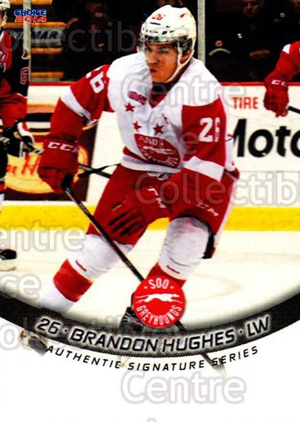 2013-14 Sault Ste. Marie Greyhounds #15 Brandon Hughes<br/>3 In Stock - $3.00 each - <a href=https://centericecollectibles.foxycart.com/cart?name=2013-14%20Sault%20Ste.%20Marie%20Greyhounds%20%2315%20Brandon%20Hughes...&quantity_max=3&price=$3.00&code=652509 class=foxycart> Buy it now! </a>