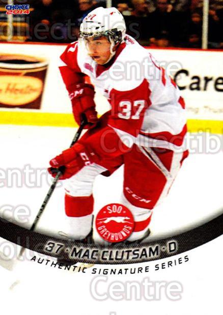 2013-14 Sault Ste. Marie Greyhounds #21 Mac Clutsam<br/>3 In Stock - $3.00 each - <a href=https://centericecollectibles.foxycart.com/cart?name=2013-14%20Sault%20Ste.%20Marie%20Greyhounds%20%2321%20Mac%20Clutsam...&quantity_max=3&price=$3.00&code=652515 class=foxycart> Buy it now! </a>