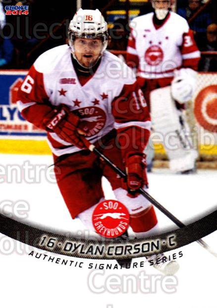 2013-14 Sault Ste. Marie Greyhounds #27 Dylan Corson<br/>2 In Stock - $3.00 each - <a href=https://centericecollectibles.foxycart.com/cart?name=2013-14%20Sault%20Ste.%20Marie%20Greyhounds%20%2327%20Dylan%20Corson...&quantity_max=2&price=$3.00&code=652521 class=foxycart> Buy it now! </a>