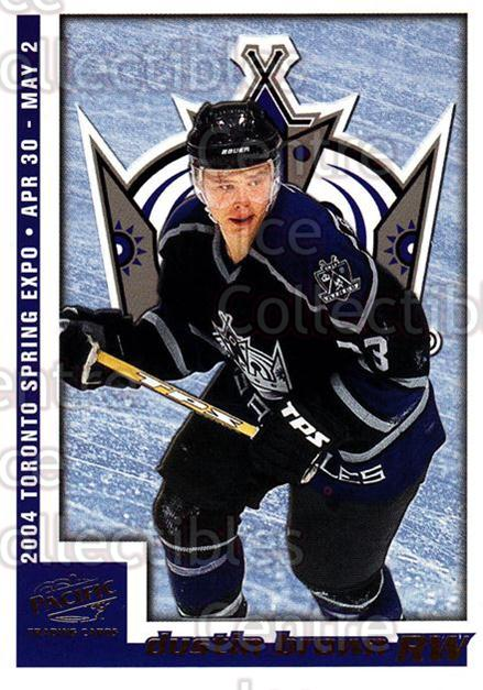 2004 Pacific Toronto Spring Expo Redemption Gold #4 Dustin Brown<br/>1 In Stock - $5.00 each - <a href=https://centericecollectibles.foxycart.com/cart?name=2004%20Pacific%20Toronto%20Spring%20Expo%20Redemption%20Gold%20%234%20Dustin%20Brown...&quantity_max=1&price=$5.00&code=652755 class=foxycart> Buy it now! </a>