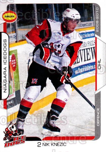 2009-10 Niagara IceDogs #1 Nik Knezic<br/>2 In Stock - $3.00 each - <a href=https://centericecollectibles.foxycart.com/cart?name=2009-10%20Niagara%20IceDogs%20%231%20Nik%20Knezic...&price=$3.00&code=652764 class=foxycart> Buy it now! </a>