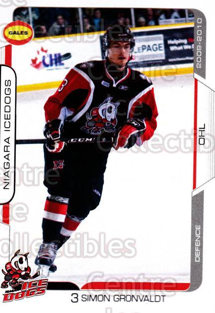 2009-10 Niagara IceDogs #2 Simon Gronvaldt<br/>2 In Stock - $3.00 each - <a href=https://centericecollectibles.foxycart.com/cart?name=2009-10%20Niagara%20IceDogs%20%232%20Simon%20Gronvaldt...&quantity_max=2&price=$3.00&code=652765 class=foxycart> Buy it now! </a>