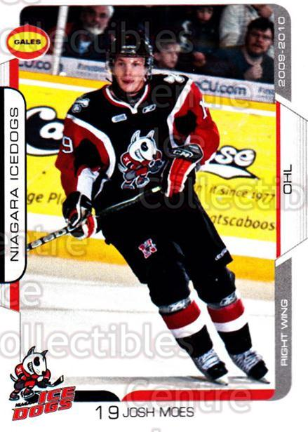 2009-10 Niagara IceDogs #15 Josh Moes<br/>2 In Stock - $3.00 each - <a href=https://centericecollectibles.foxycart.com/cart?name=2009-10%20Niagara%20IceDogs%20%2315%20Josh%20Moes...&price=$3.00&code=652778 class=foxycart> Buy it now! </a>