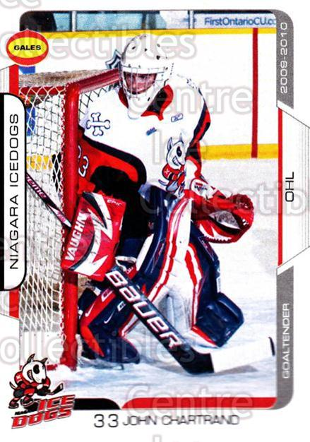 2009-10 Niagara IceDogs #23 John Chartrand<br/>2 In Stock - $3.00 each - <a href=https://centericecollectibles.foxycart.com/cart?name=2009-10%20Niagara%20IceDogs%20%2323%20John%20Chartrand...&quantity_max=2&price=$3.00&code=652786 class=foxycart> Buy it now! </a>
