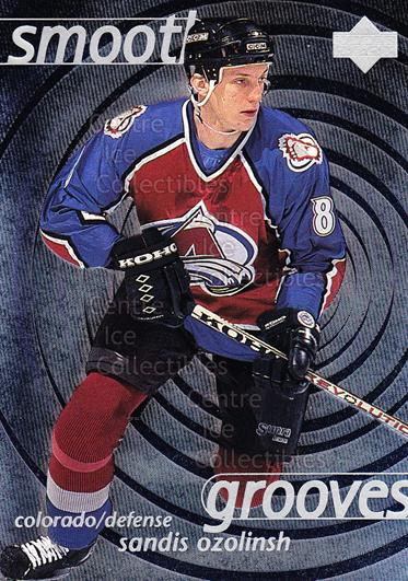 1997-98 Upper Deck Smooth Grooves #28 Sandis Ozolinsh<br/>3 In Stock - $2.00 each - <a href=https://centericecollectibles.foxycart.com/cart?name=1997-98%20Upper%20Deck%20Smooth%20Grooves%20%2328%20Sandis%20Ozolinsh...&quantity_max=3&price=$2.00&code=65306 class=foxycart> Buy it now! </a>