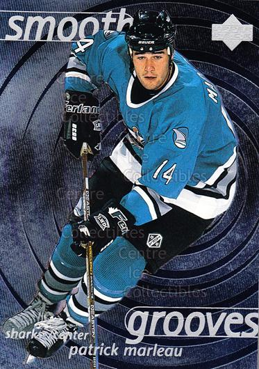 1997-98 Upper Deck Smooth Grooves #3 Patrick Marleau<br/>4 In Stock - $2.00 each - <a href=https://centericecollectibles.foxycart.com/cart?name=1997-98%20Upper%20Deck%20Smooth%20Grooves%20%233%20Patrick%20Marleau...&quantity_max=4&price=$2.00&code=65308 class=foxycart> Buy it now! </a>