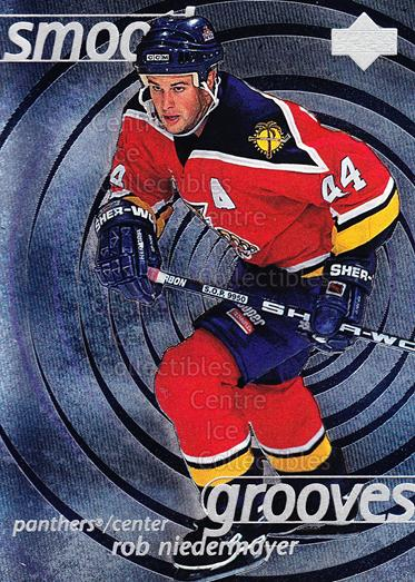 1997-98 Upper Deck Smooth Grooves #44 Rob Niedermayer<br/>7 In Stock - $2.00 each - <a href=https://centericecollectibles.foxycart.com/cart?name=1997-98%20Upper%20Deck%20Smooth%20Grooves%20%2344%20Rob%20Niedermayer...&quantity_max=7&price=$2.00&code=65316 class=foxycart> Buy it now! </a>