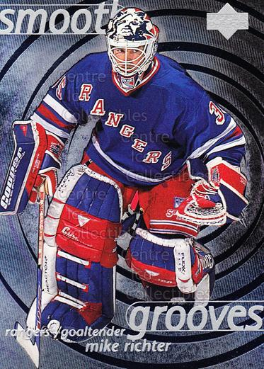 1997-98 Upper Deck Smooth Grooves #53 Mike Richter<br/>2 In Stock - $2.00 each - <a href=https://centericecollectibles.foxycart.com/cart?name=1997-98%20Upper%20Deck%20Smooth%20Grooves%20%2353%20Mike%20Richter...&quantity_max=2&price=$2.00&code=65325 class=foxycart> Buy it now! </a>