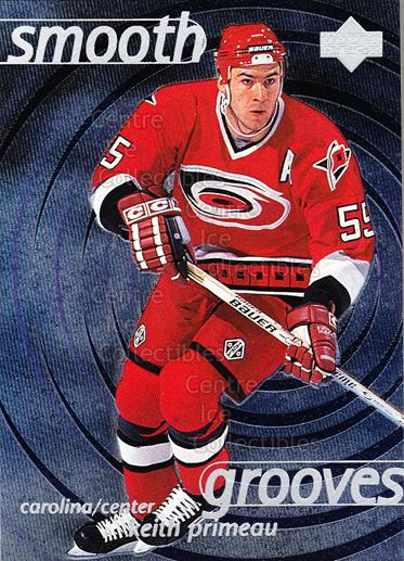 1997-98 Upper Deck Smooth Grooves #55 Keith Primeau<br/>4 In Stock - $2.00 each - <a href=https://centericecollectibles.foxycart.com/cart?name=1997-98%20Upper%20Deck%20Smooth%20Grooves%20%2355%20Keith%20Primeau...&quantity_max=4&price=$2.00&code=65326 class=foxycart> Buy it now! </a>