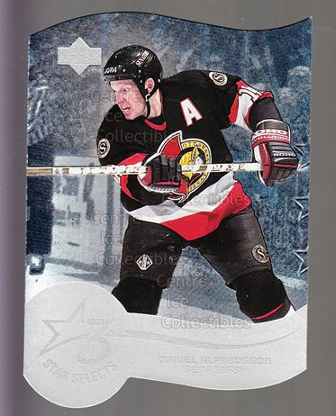 1997-98 Upper Deck Three Star Selects #14A Daniel Alfredsson<br/>5 In Stock - $2.00 each - <a href=https://centericecollectibles.foxycart.com/cart?name=1997-98%20Upper%20Deck%20Three%20Star%20Selects%20%2314A%20Daniel%20Alfredss...&quantity_max=5&price=$2.00&code=65340 class=foxycart> Buy it now! </a>