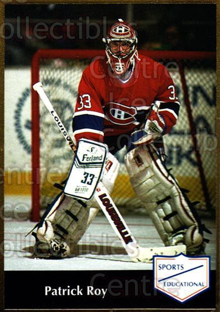 1991-92 Sports Educational #43 Patrick Roy<br/>1 In Stock - $5.00 each - <a href=https://centericecollectibles.foxycart.com/cart?name=1991-92%20Sports%20Educational%20%2343%20Patrick%20Roy...&price=$5.00&code=653619 class=foxycart> Buy it now! </a>
