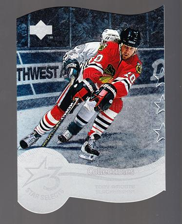 1997-98 Upper Deck Three Star Selects #09A Tony Amonte<br/>4 In Stock - $2.00 each - <a href=https://centericecollectibles.foxycart.com/cart?name=1997-98%20Upper%20Deck%20Three%20Star%20Selects%20%2309A%20Tony%20Amonte...&quantity_max=4&price=$2.00&code=65370 class=foxycart> Buy it now! </a>