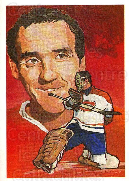 1987 Hall of Fame #76 Jacques Plante<br/>2 In Stock - $10.00 each - <a href=https://centericecollectibles.foxycart.com/cart?name=1987%20Hall%20of%20Fame%20%2376%20Jacques%20Plante...&quantity_max=2&price=$10.00&code=653845 class=foxycart> Buy it now! </a>