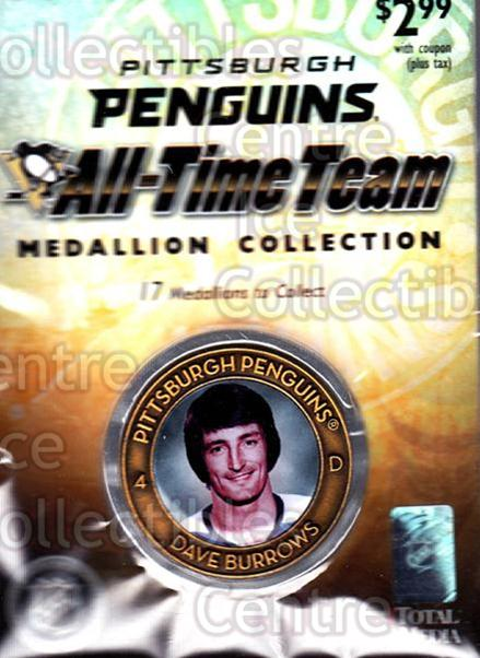2009-10 Pittsburgh Penguins All-Time Medallion #4 Dave Burrows<br/>1 In Stock - $5.00 each - <a href=https://centericecollectibles.foxycart.com/cart?name=2009-10%20Pittsburgh%20Penguins%20All-Time%20Medallion%20%234%20Dave%20Burrows...&quantity_max=1&price=$5.00&code=653903 class=foxycart> Buy it now! </a>